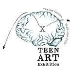reception for exhibition of emerging teen artists curated by their peers in ARTteens, an out-of-school program at The Art Garden
